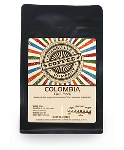 Evansville Coffee Colombia La Cumbre Medium roast