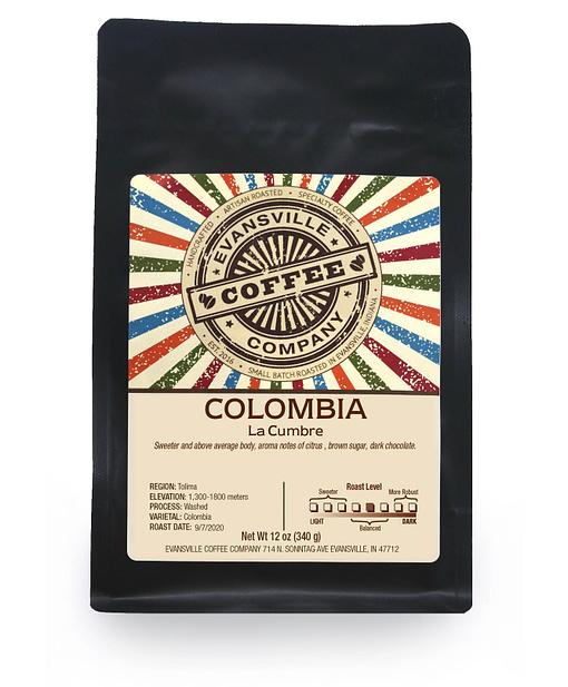 Evansville Coffee Colombia La Cumbre Medium roast